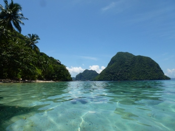 View of Paradise Beach, looking towards El Nido, Palawan
